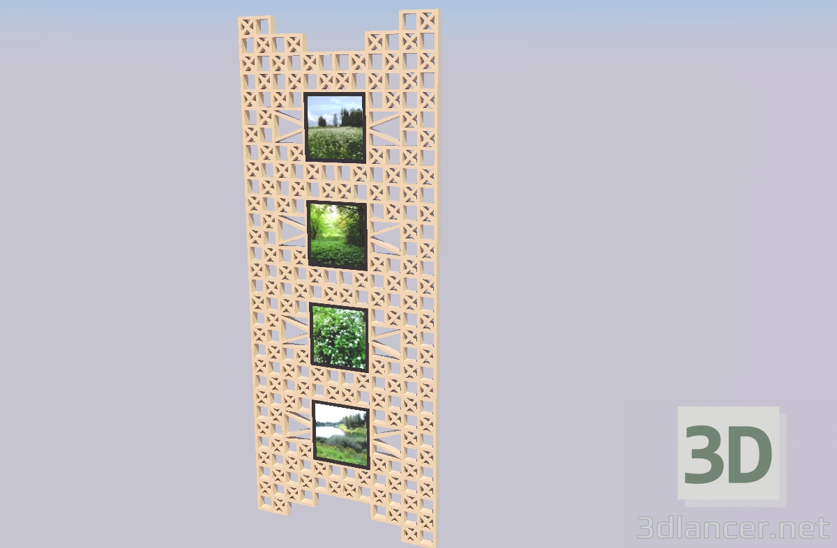3d model Decorative panel - preview
