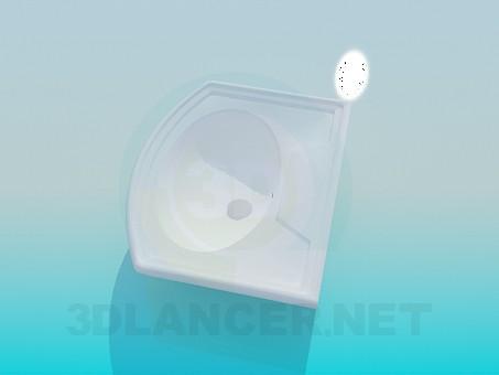 modelo 3D lavabo de colada - escuchar