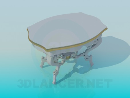 3d modeling Antique table model free download