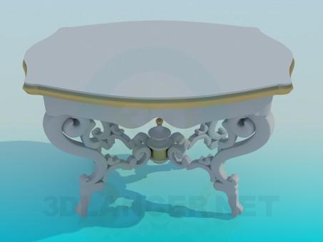 3d модель Стол антикварный – превью