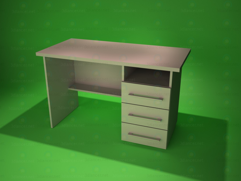 3d модель Стол письменный 4 – превью