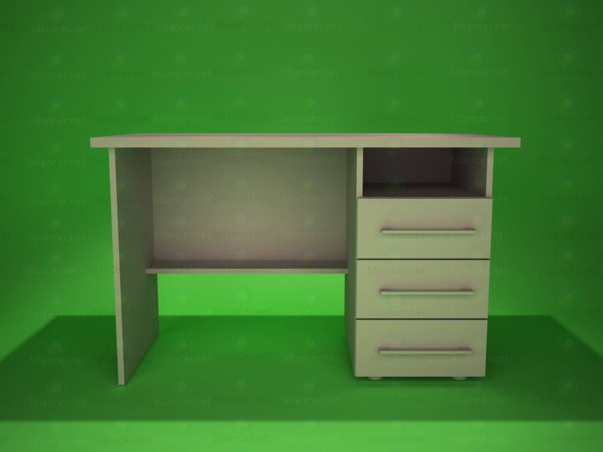 3d modeling Desk 4 model free download