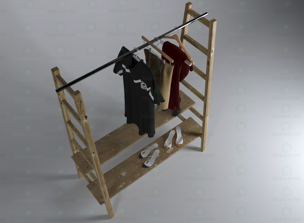 3d model Hanger-ladder - preview