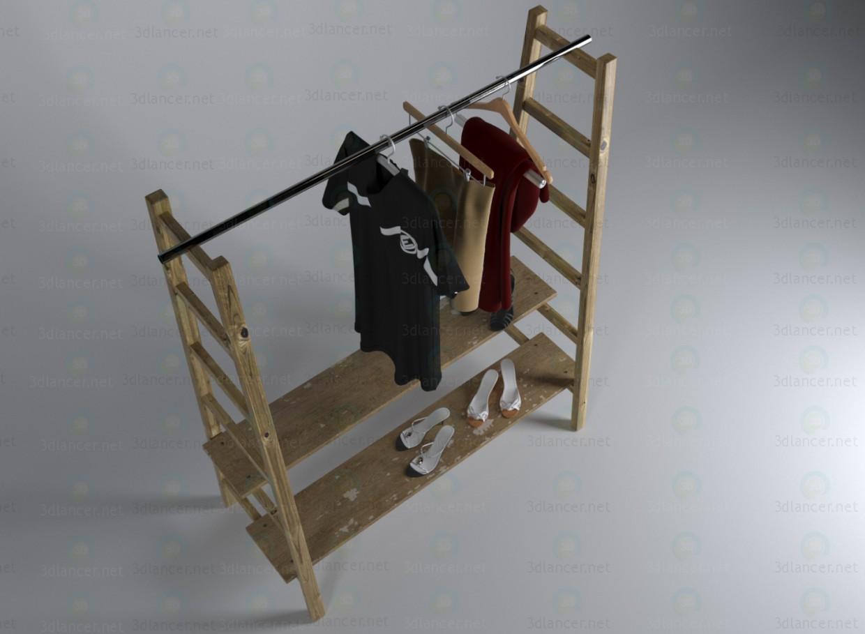3d модель Вешалка-стремянка – превью