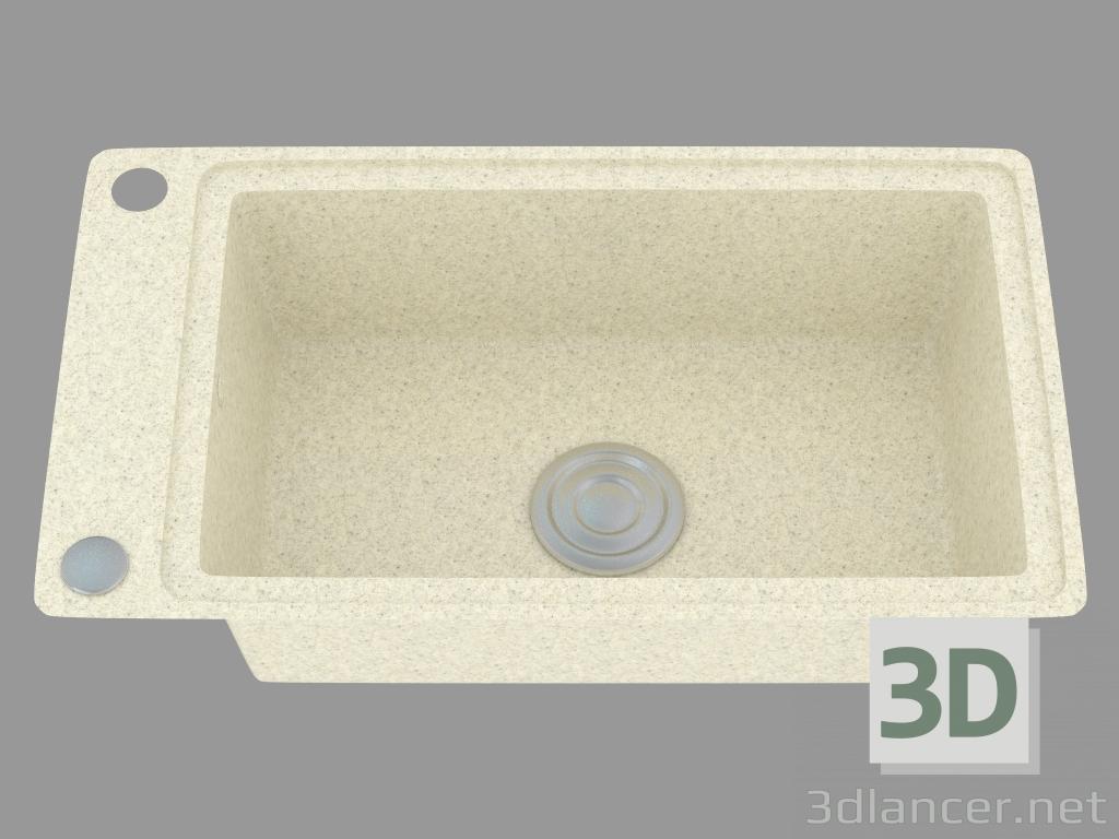 Modelo 3d fregadero de cocina del país (ZQU 7113) del fabricante ...
