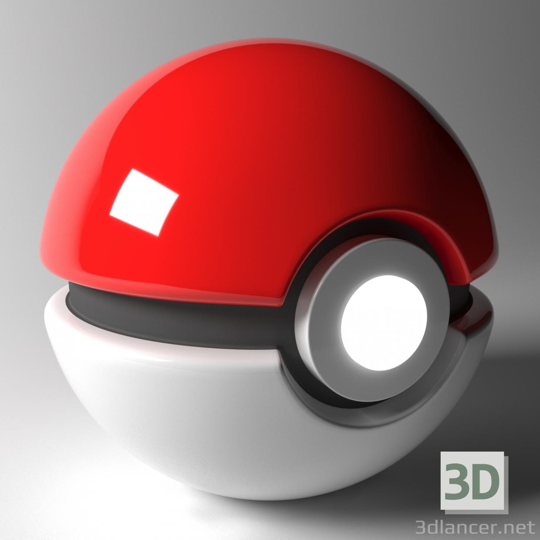 3d Pokeball model buy - render