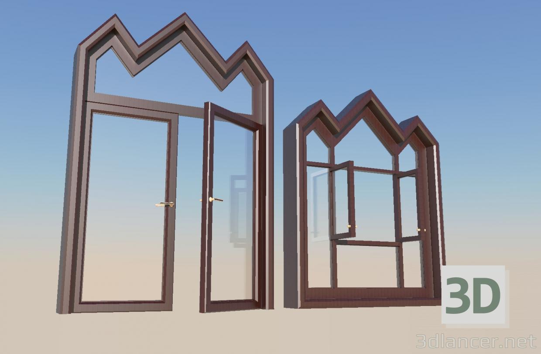3d model Door and window - preview