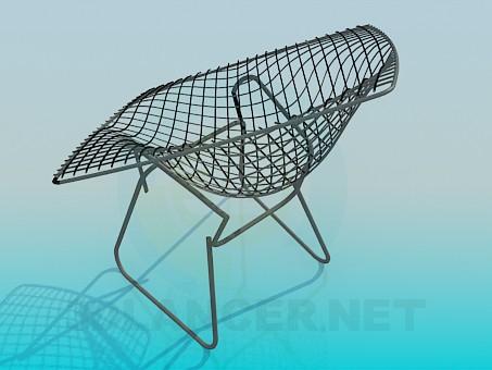 3d модель Стілець-сітка – превью