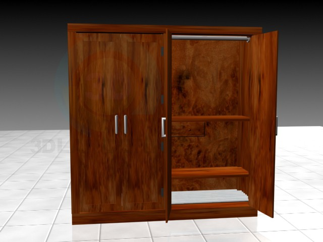 3d model Bed Room Cupboard - preview