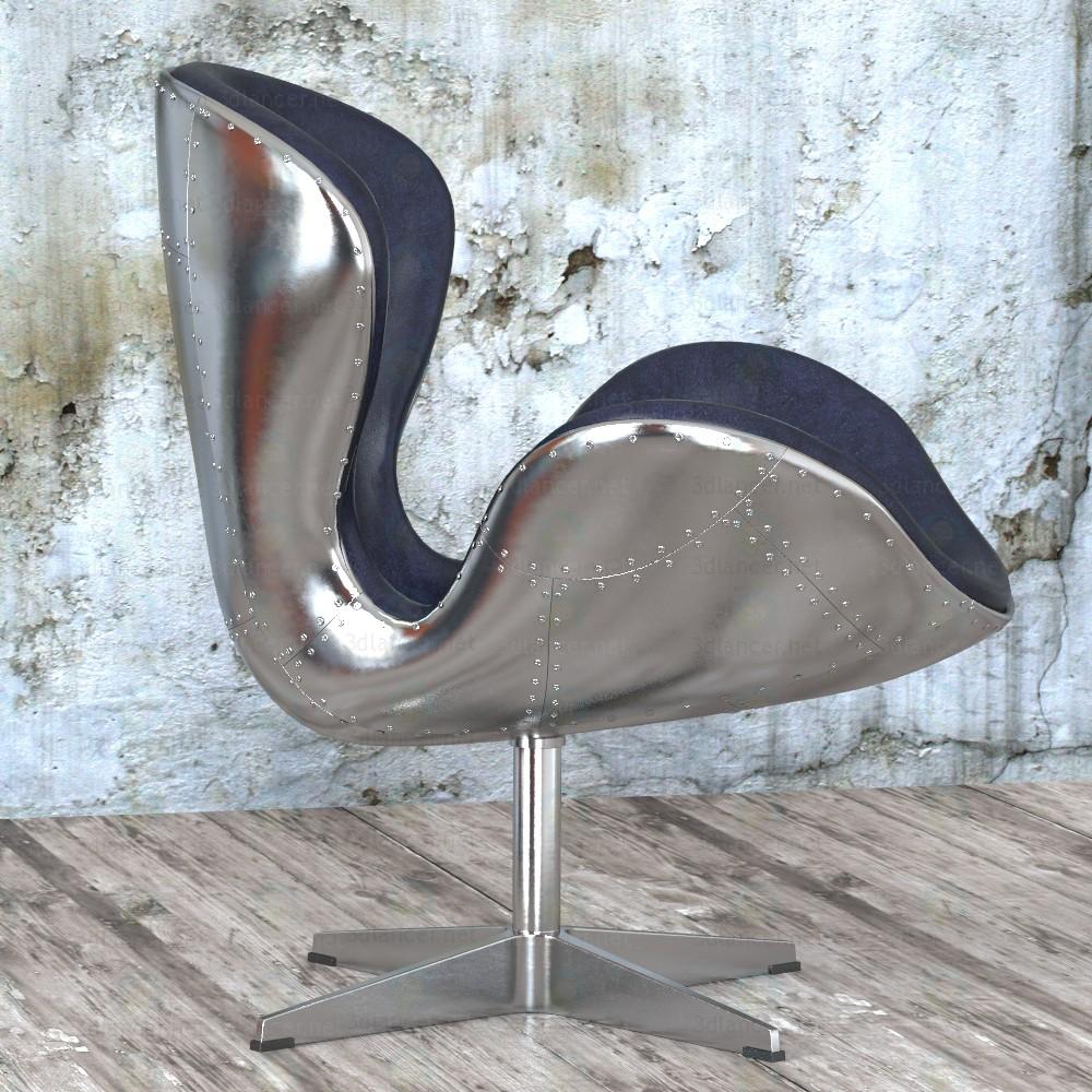 3d Armchair Spitfire Swan Chair Aviator (5 colors) model buy - render