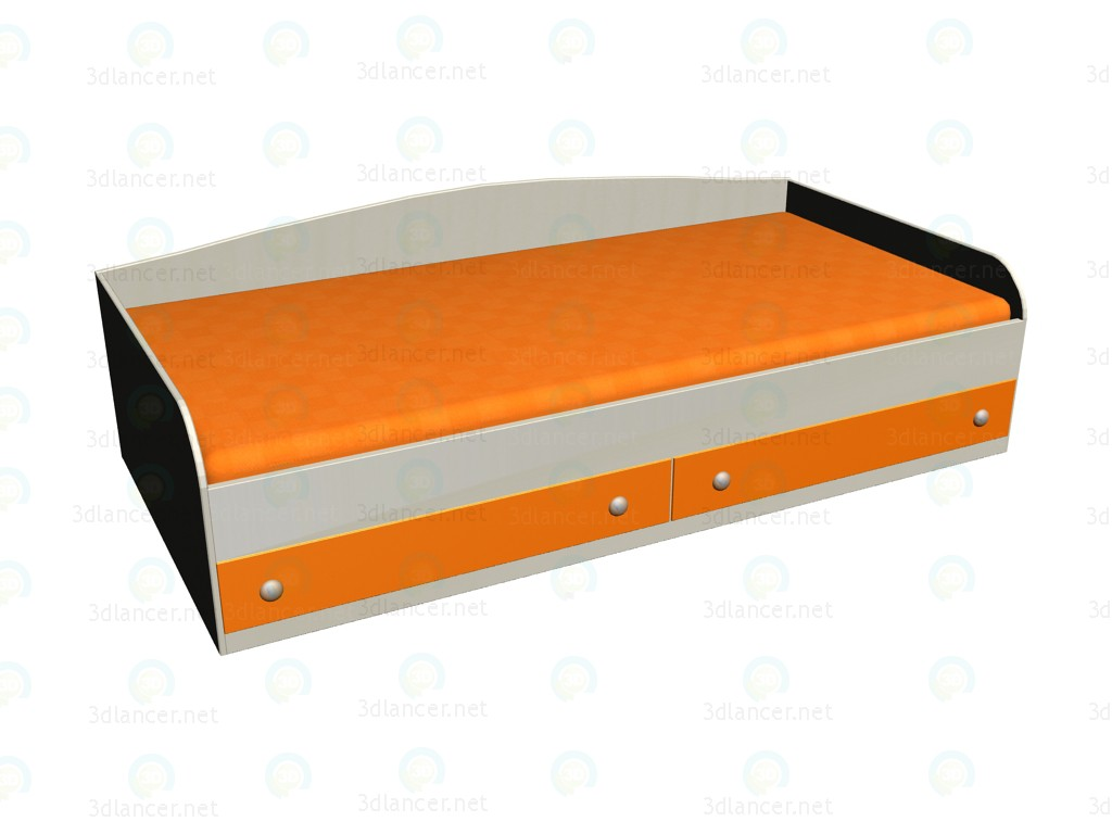 3d модель Кровать ЛК-103 – превью