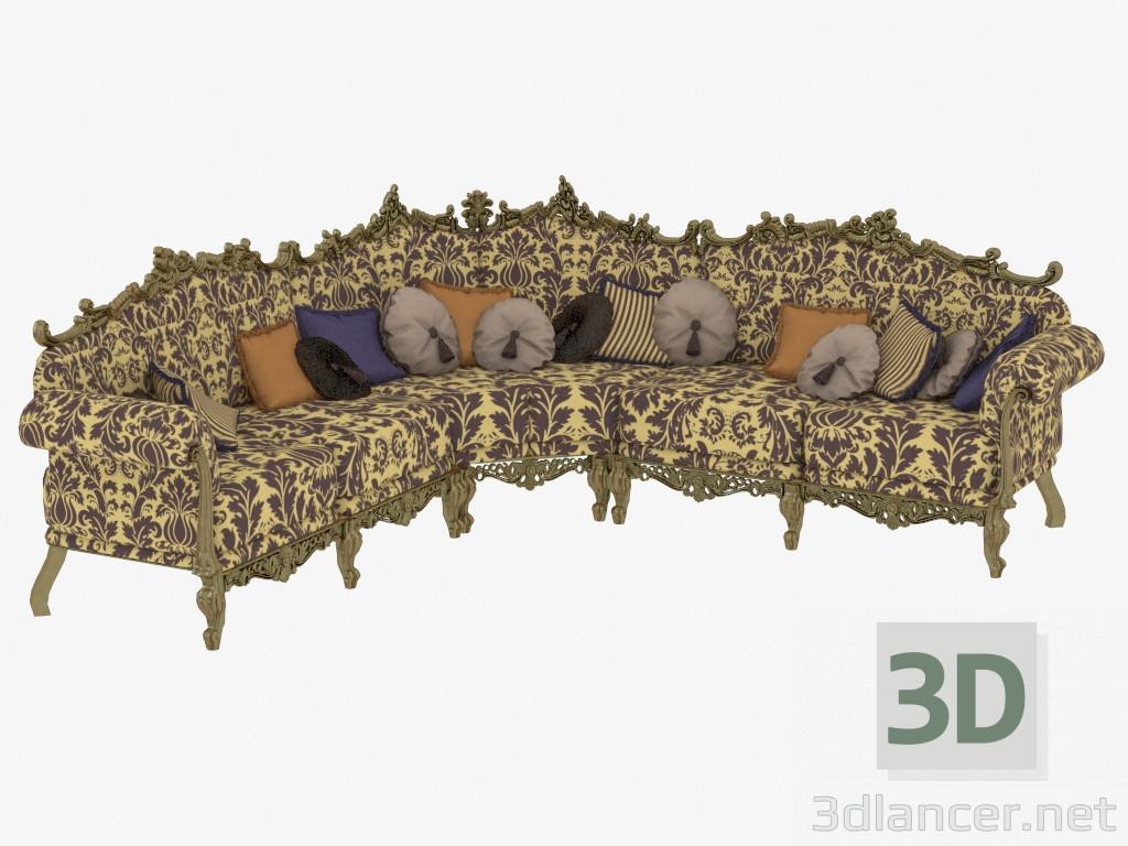 3d model Classic Corner Sofa (12401) - preview
