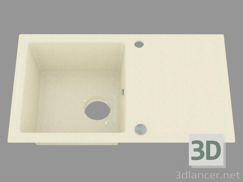 3d model fregadero de la cocina Polka (ZQO 7113) - vista previa