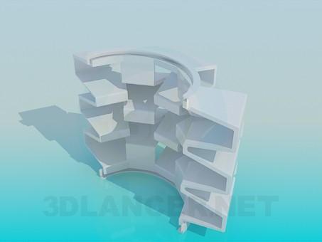 modelo 3D Soporte de estante de recuerdo - escuchar