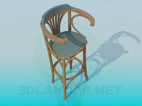 3d моделювання Дерев'яний барний стілець модель завантажити безкоштовно