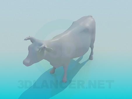 3d model Cow - preview