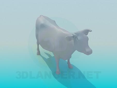3d модель Корова – превью