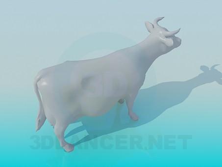 modelo 3D Vaca - escuchar