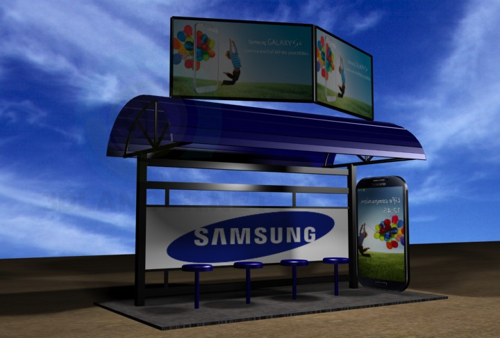 3d model Bus Shelter - preview