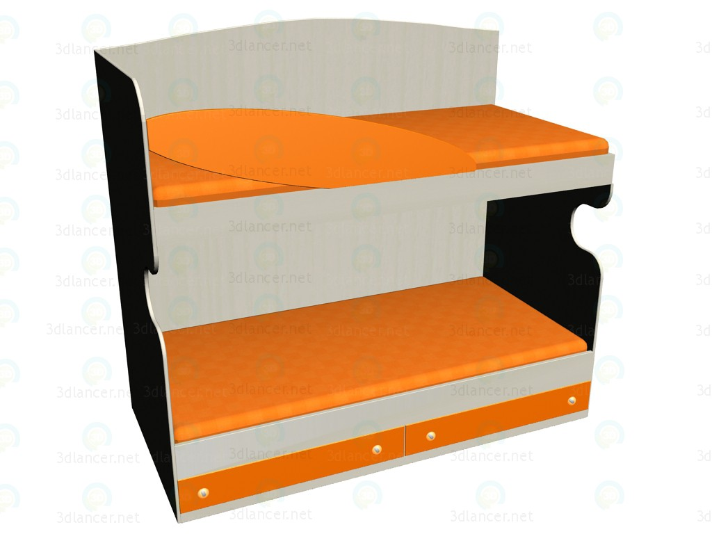 3d modeling Bed LC-107 model free download