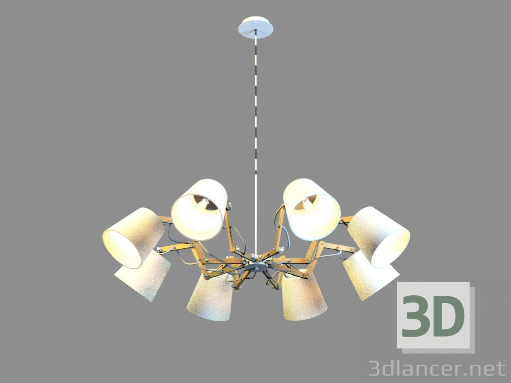 3d model Chandelier A5700LM-8WH - preview