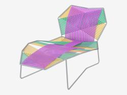 Chaise longue avec structure en métal