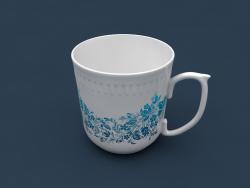 छोटा कप (सिरेमिक, नालीदार बेजल)