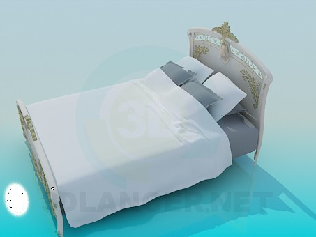 3d модель Кровать в стиле барокко – превью