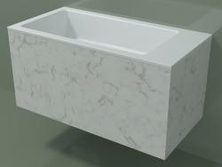 Lavabo suspendu (02R142102, Carrara M01, L 72, P 36, H 36 cm)