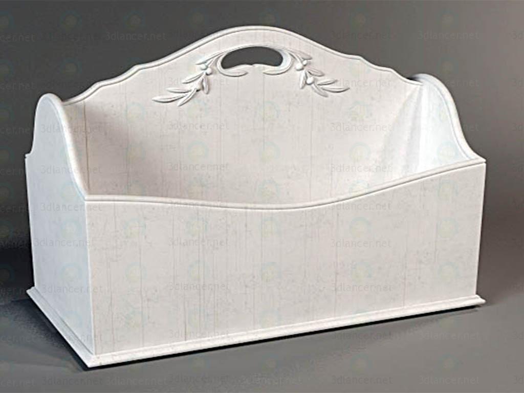 3d модель Полиця-кошик – превью