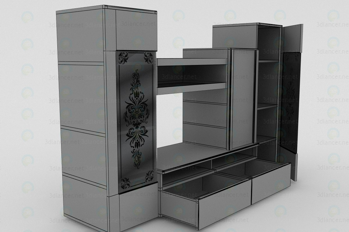 3d model Combined cabinet, wall unit - preview