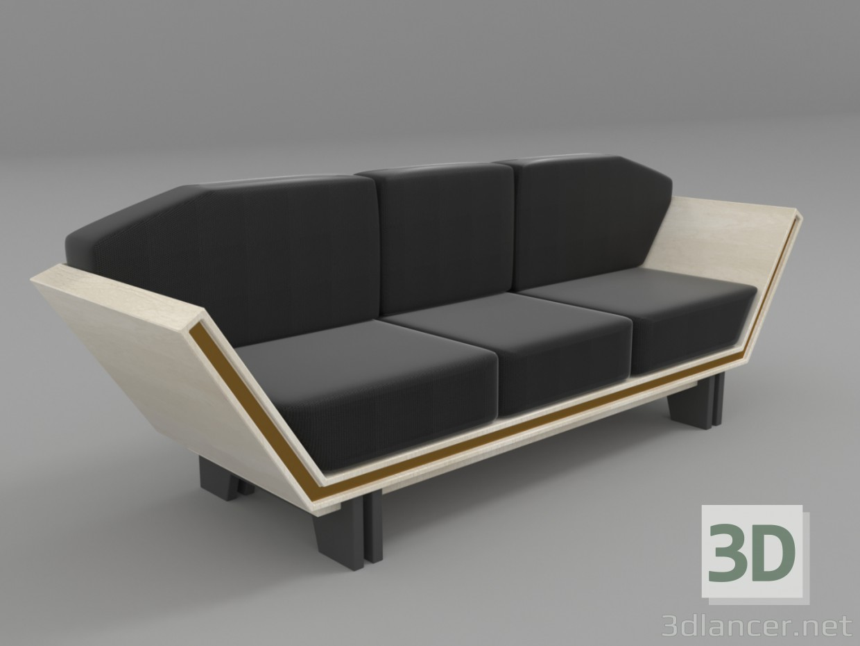 3d modern sofa model buy render