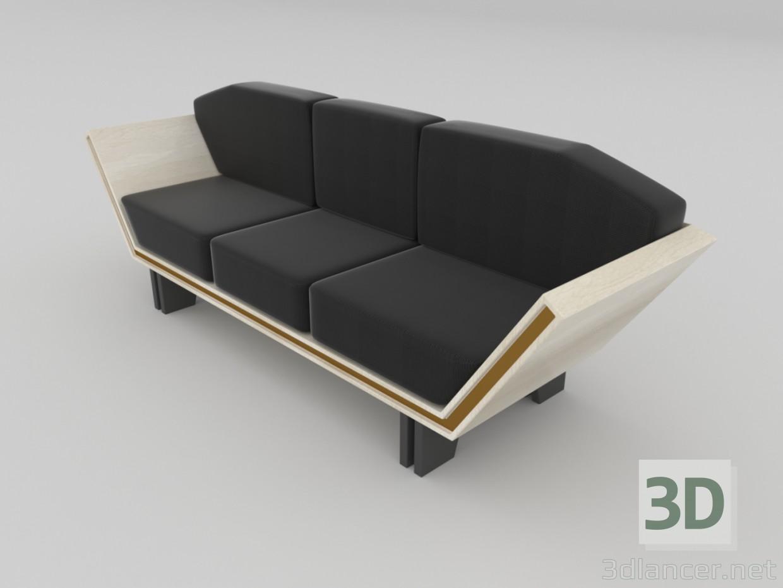 3d model modern sofa for Divan furniture models