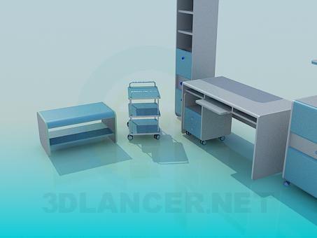 3d моделирование Мебель в кабинет модель скачать бесплатно