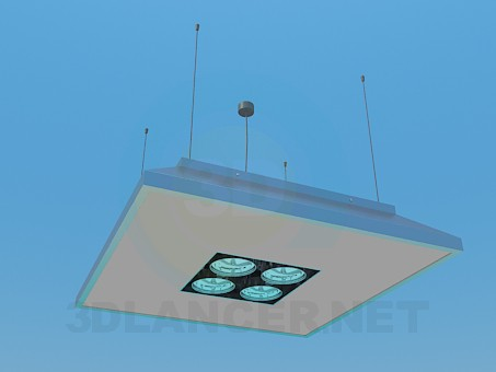 3d model Lamp with searchlights - preview