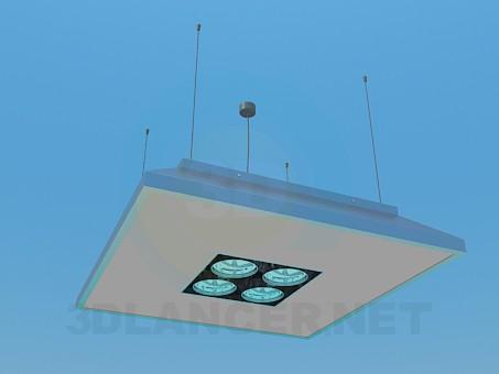 modelo 3D Lámpara con reflectores - escuchar