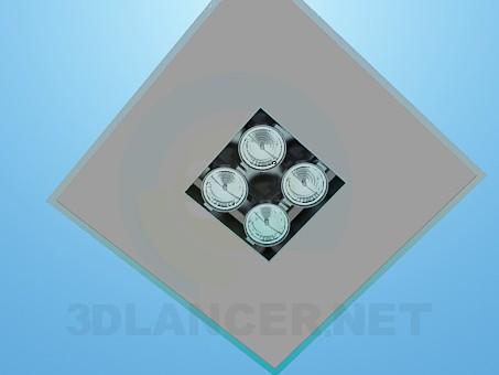 3d модель Светильник с прожекторами – превью