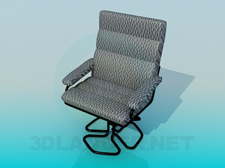 3d modeling A comfortable chair for computer desk model free download