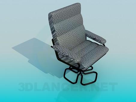 modelo 3D Una cómoda silla para el escritorio de la computadora - escuchar