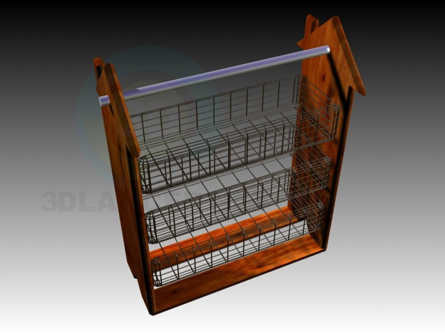 3d model Kitchen Rack - preview