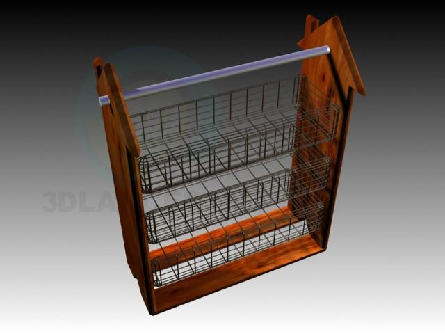 modelo 3D Estante de la cocina - escuchar