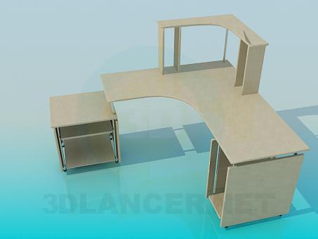 3d моделирование Стол письменный модель скачать бесплатно