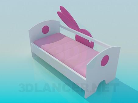 3d моделирование Детская кроватка модель скачать бесплатно