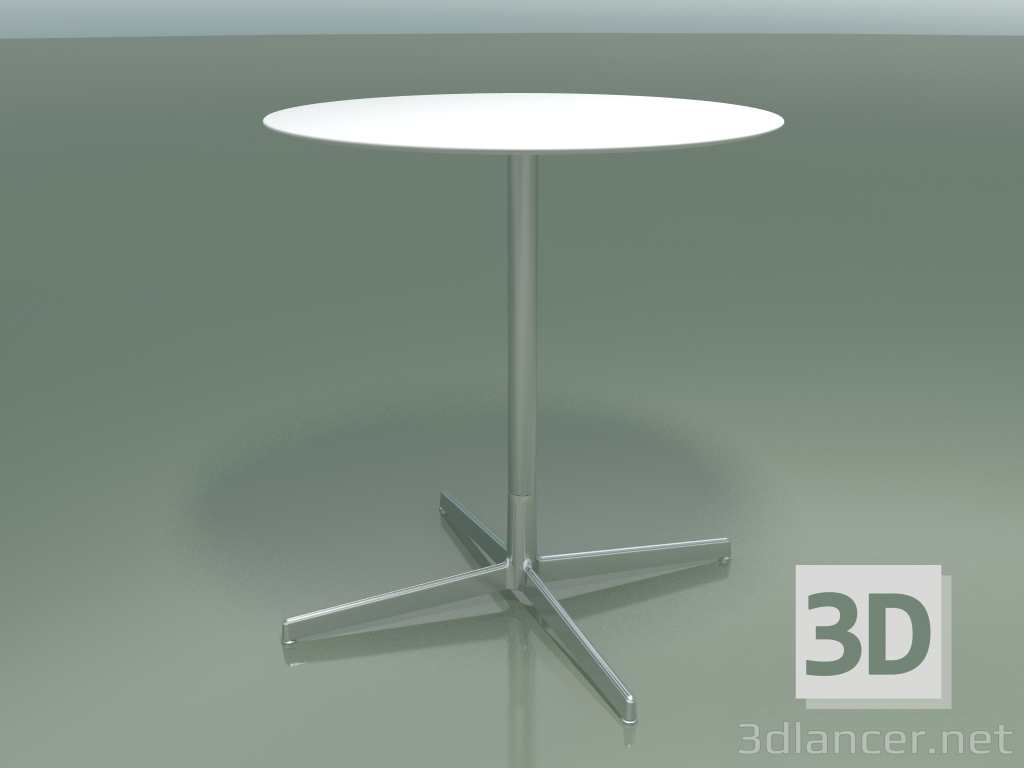 3d model Round table 5553 (H 72.5 - Ø 69 cm, White, LU1) - preview