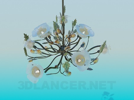 3d model Bouquet chandelier and wall brackets included - preview