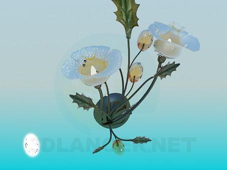 modelo 3D Ramo de la araña y la pared los soportes incluidos - escuchar