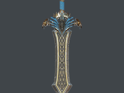Fantasy sword 25 with scabbard 3d model