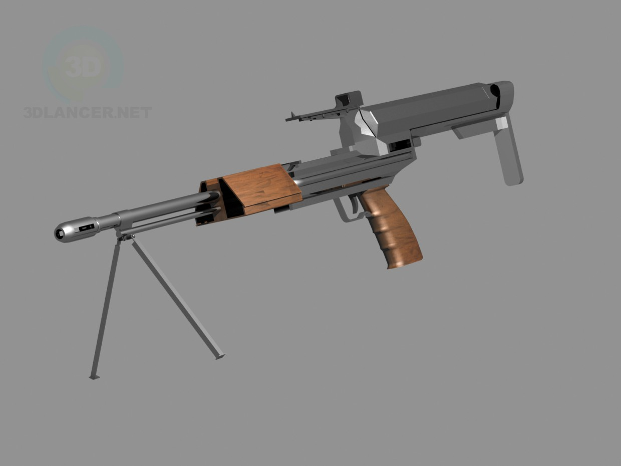 3d model Assault rifle - preview