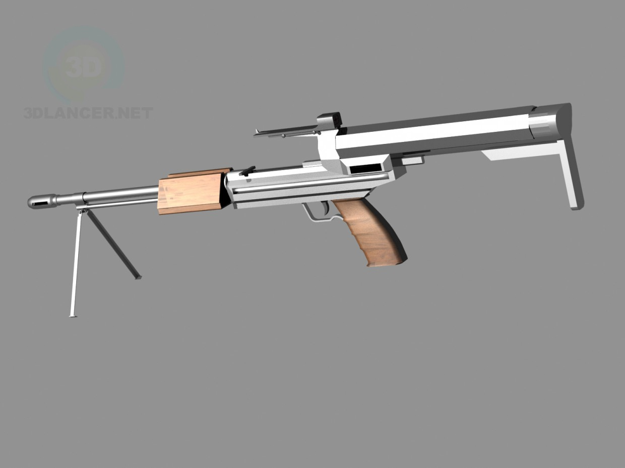 3d модель assault rifle – превью