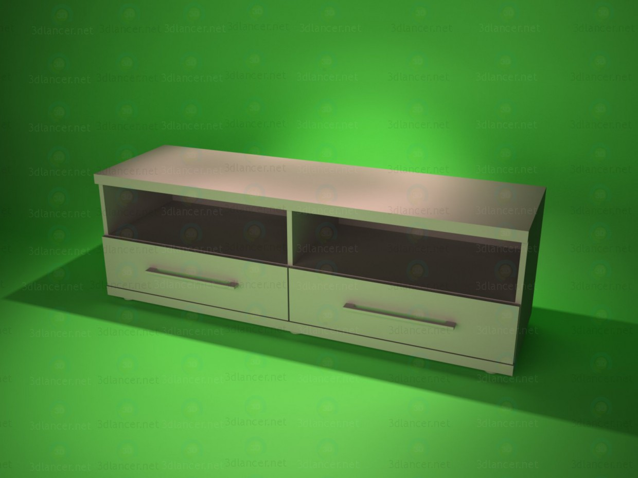3d model TV stand 2 - preview